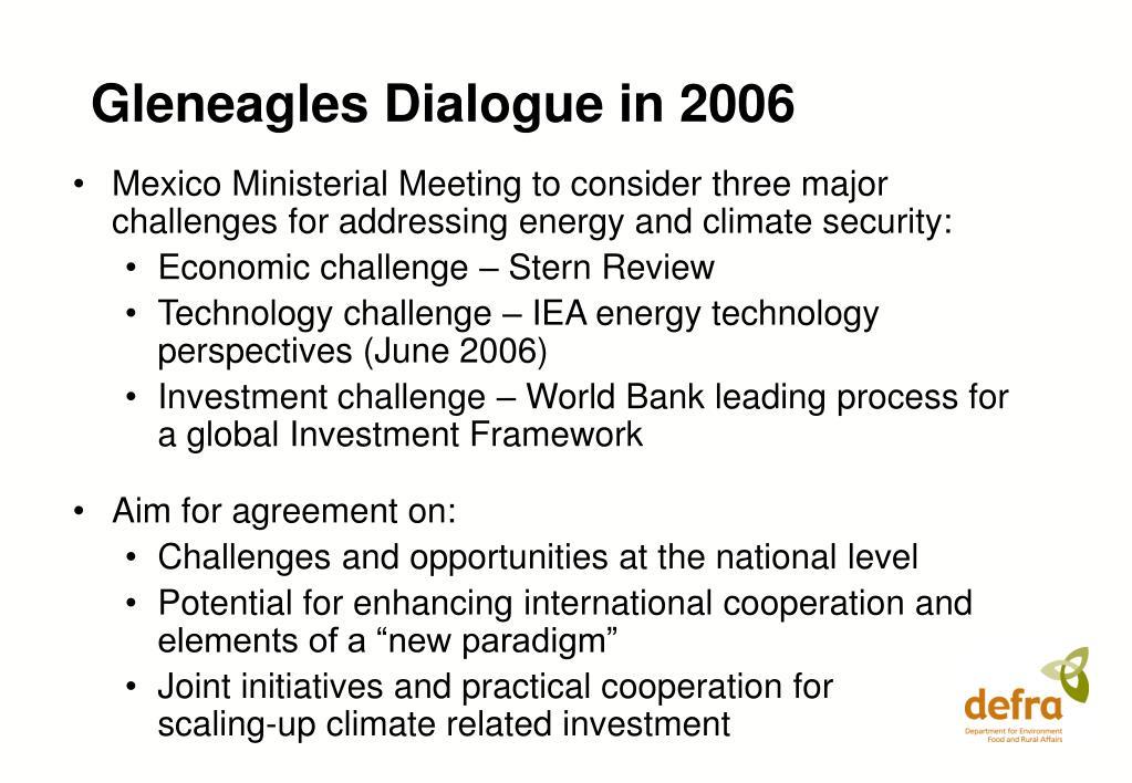 Gleneagles Dialogue in 2006