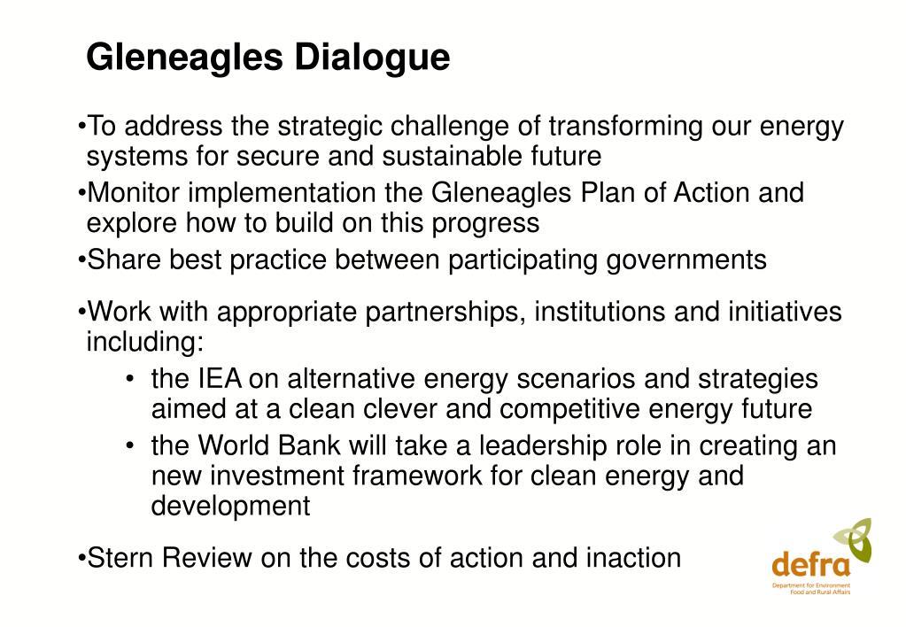 Gleneagles Dialogue