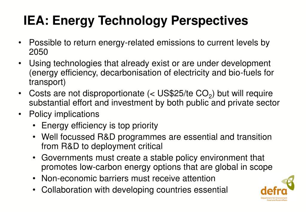 IEA: Energy Technology Perspectives