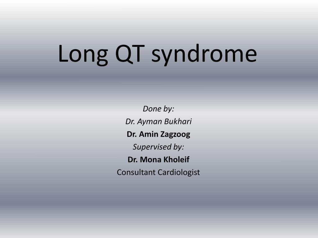 Anesthesia for children with long qt syndrome.