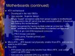 motherboards continued5