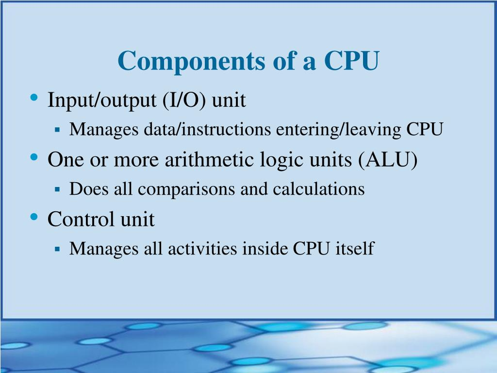 Components of a CPU