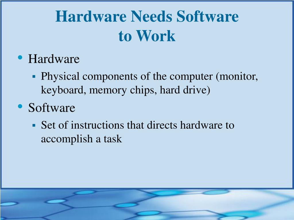 how computer hardware and software work