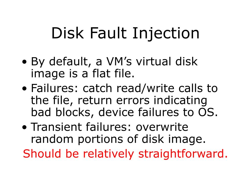 Disk Fault Injection