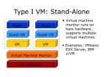type i vm stand alone