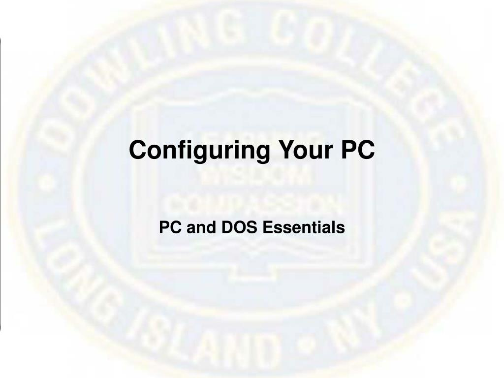 Configuring Your PC