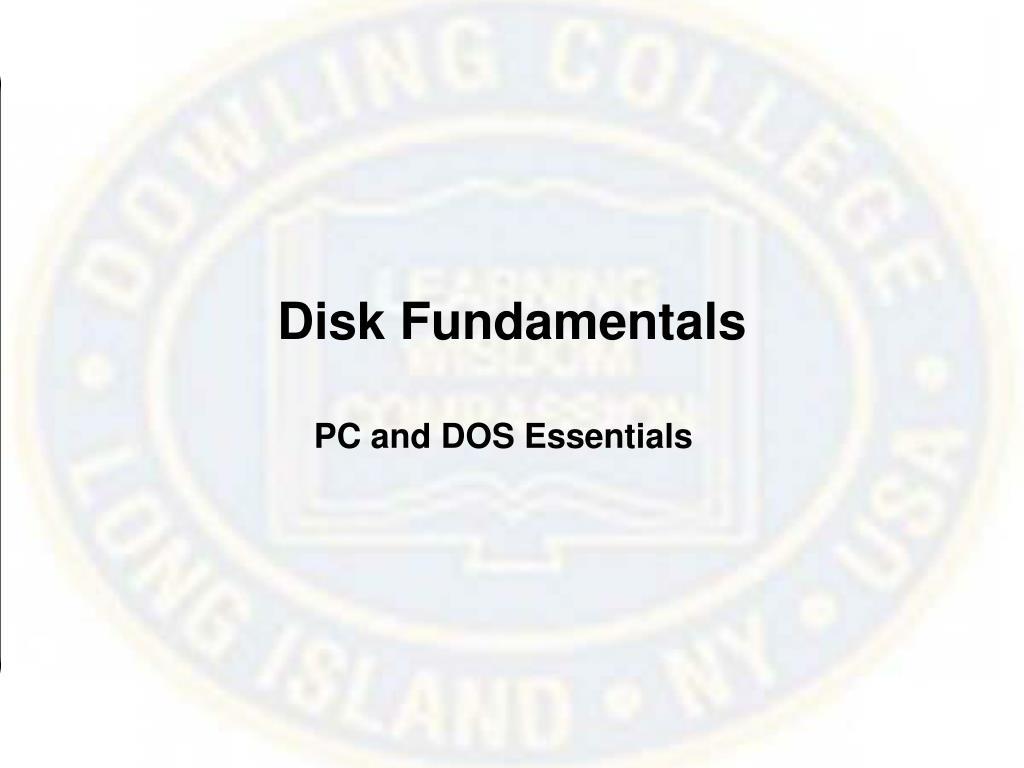 Disk Fundamentals