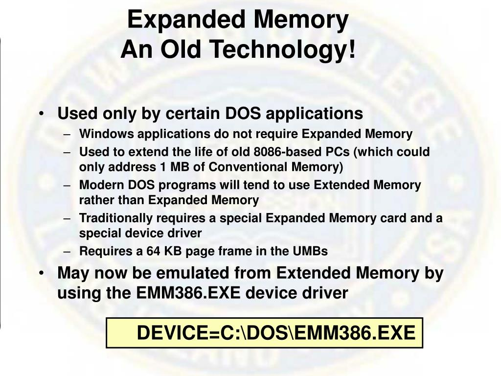 Expanded Memory