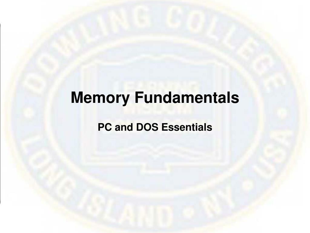 Memory Fundamentals