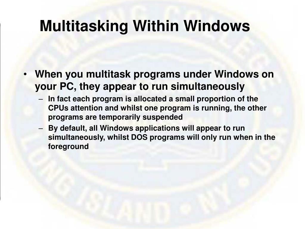Multitasking Within Windows