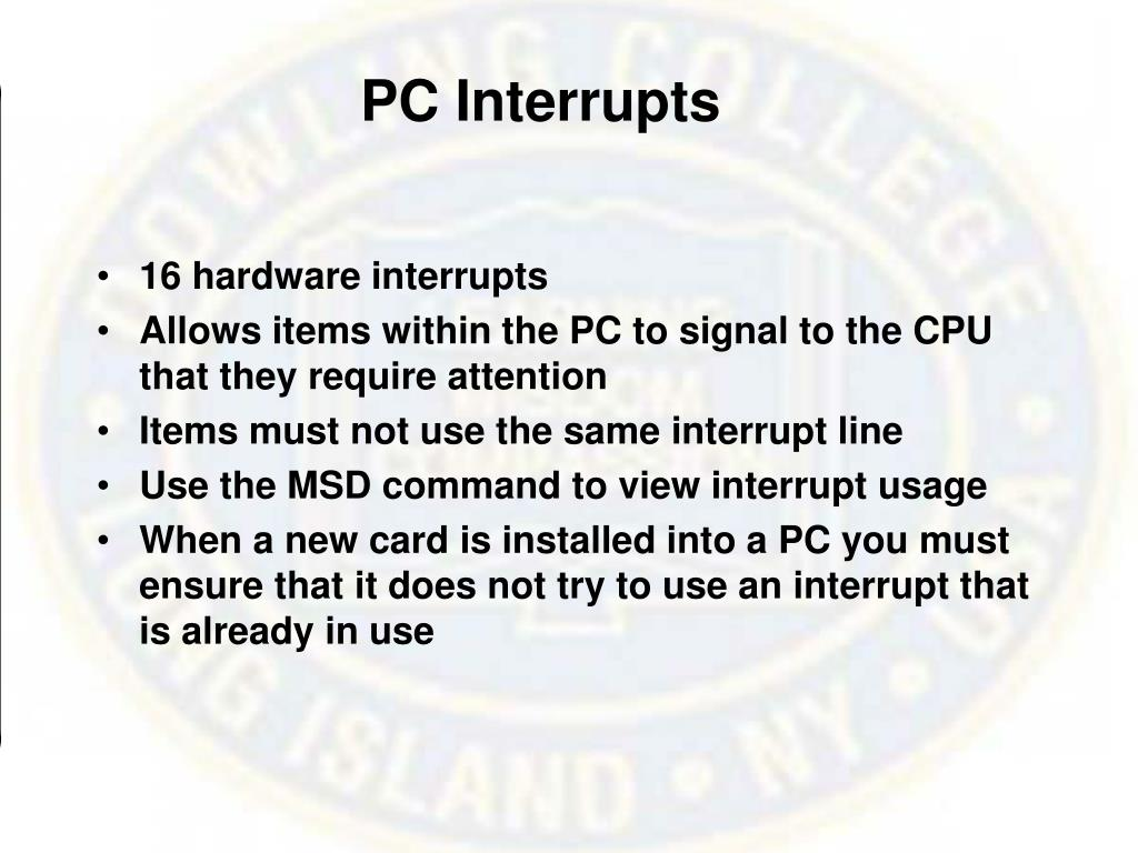 PC Interrupts