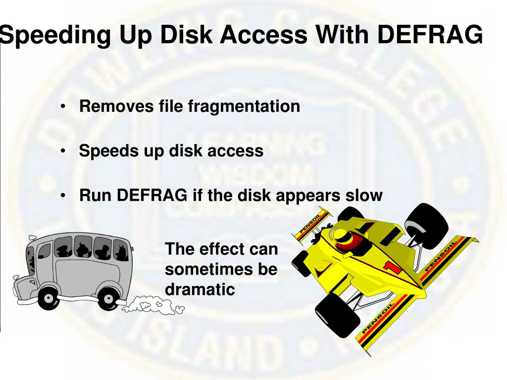 Speeding Up Disk Access With DEFRAG
