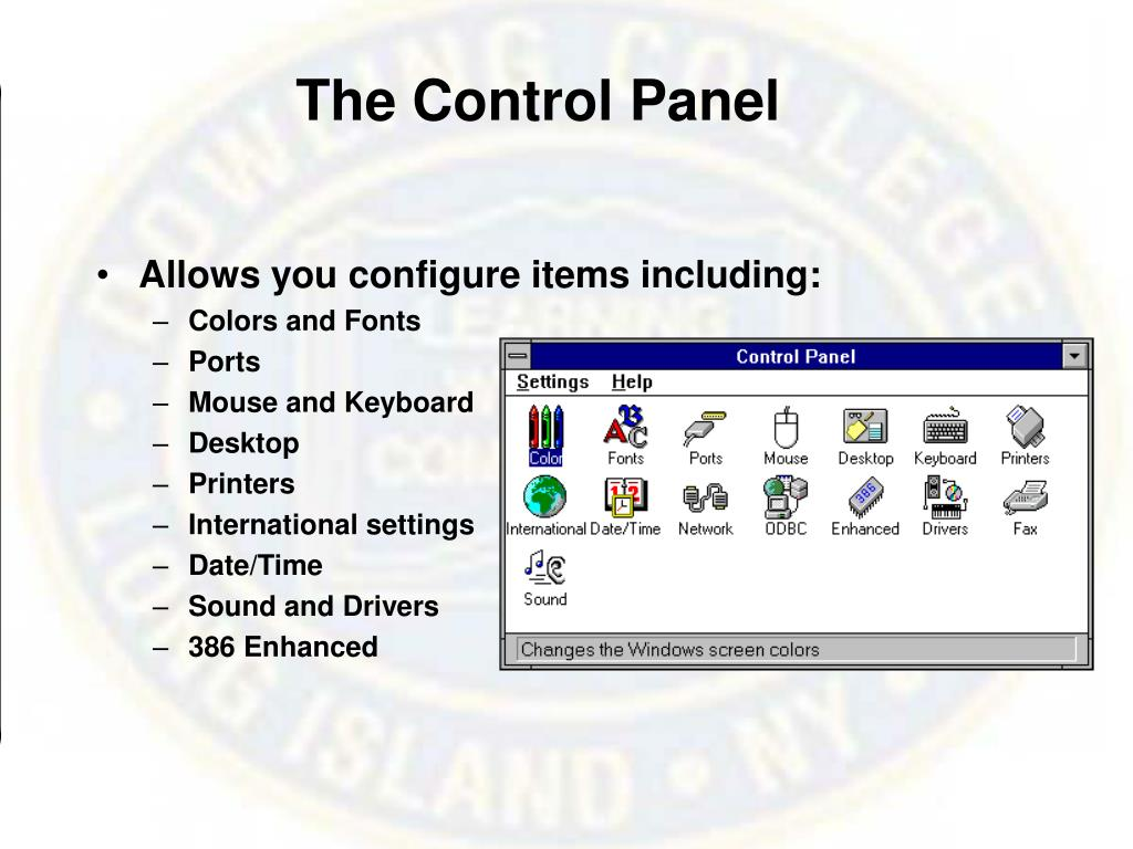 The Control Panel