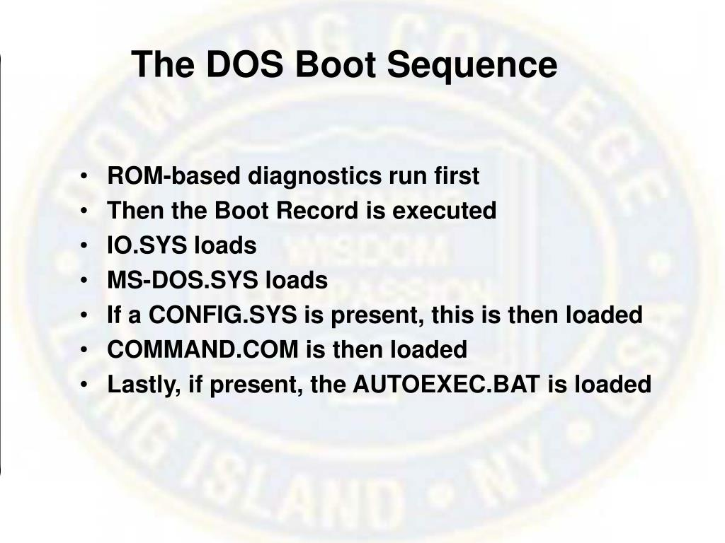 The DOS Boot Sequence