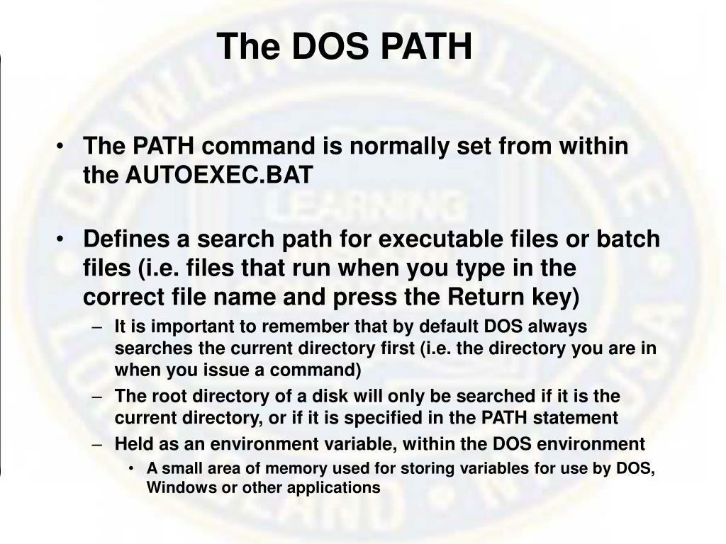 The DOS PATH