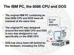 the ibm pc the 8086 cpu and dos