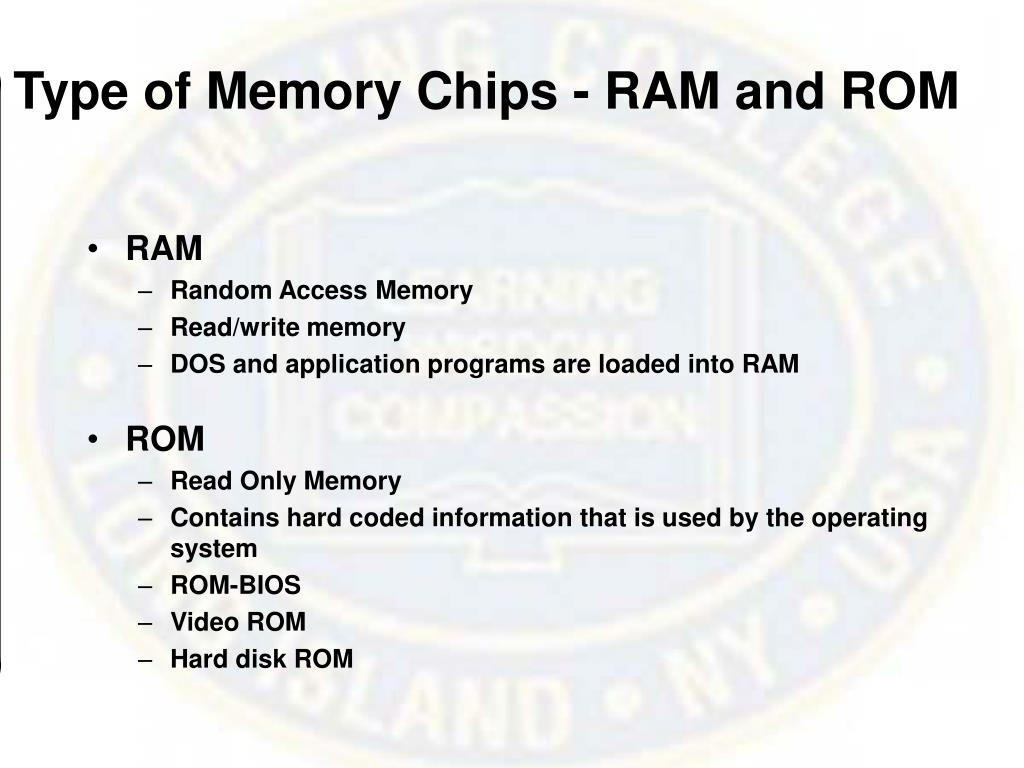 Type of Memory Chips - RAM and ROM