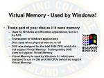 virtual memory used by windows
