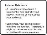 listener relevance link