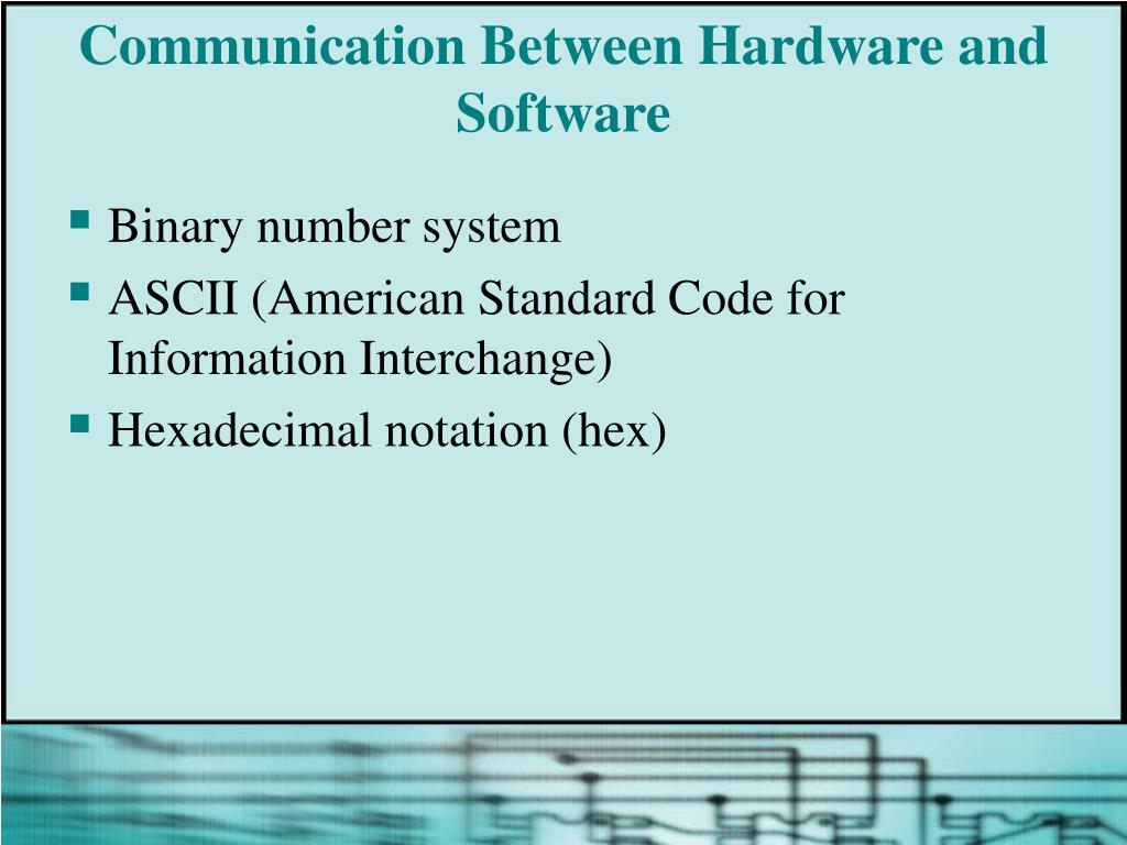 Communication Between Hardware and Software