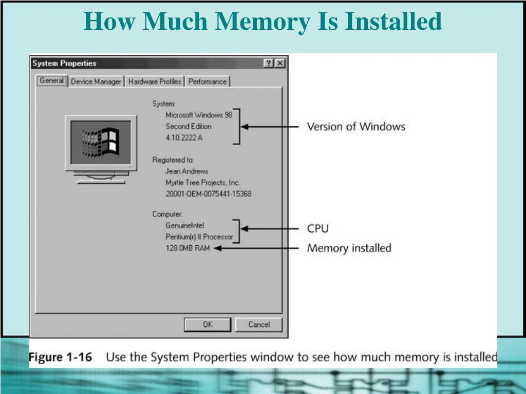 How Much Memory Is Installed