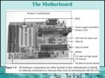 the motherboard17