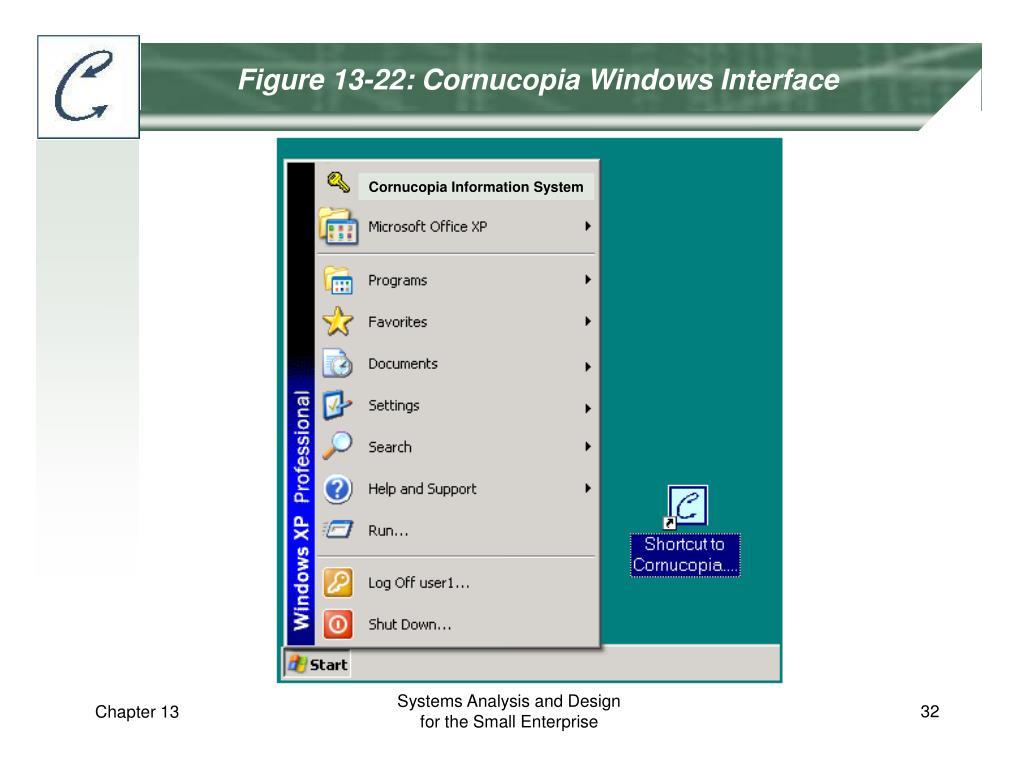 Figure 13-22: Cornucopia Windows Interface