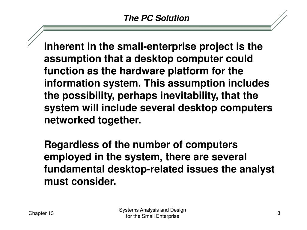 The PC Solution