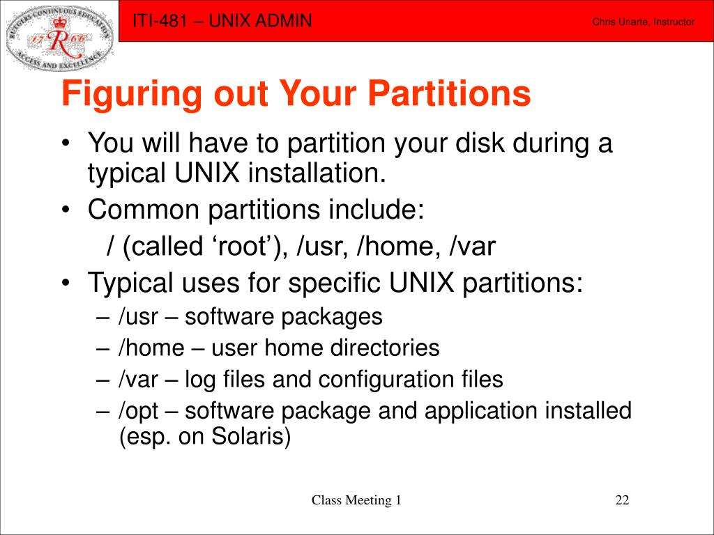 Figuring out Your Partitions