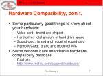 hardware compatibility con t