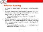 partition naming