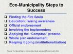 eco municipality steps to success