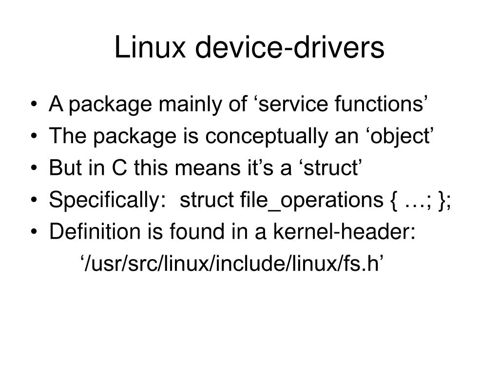 Linux device-drivers