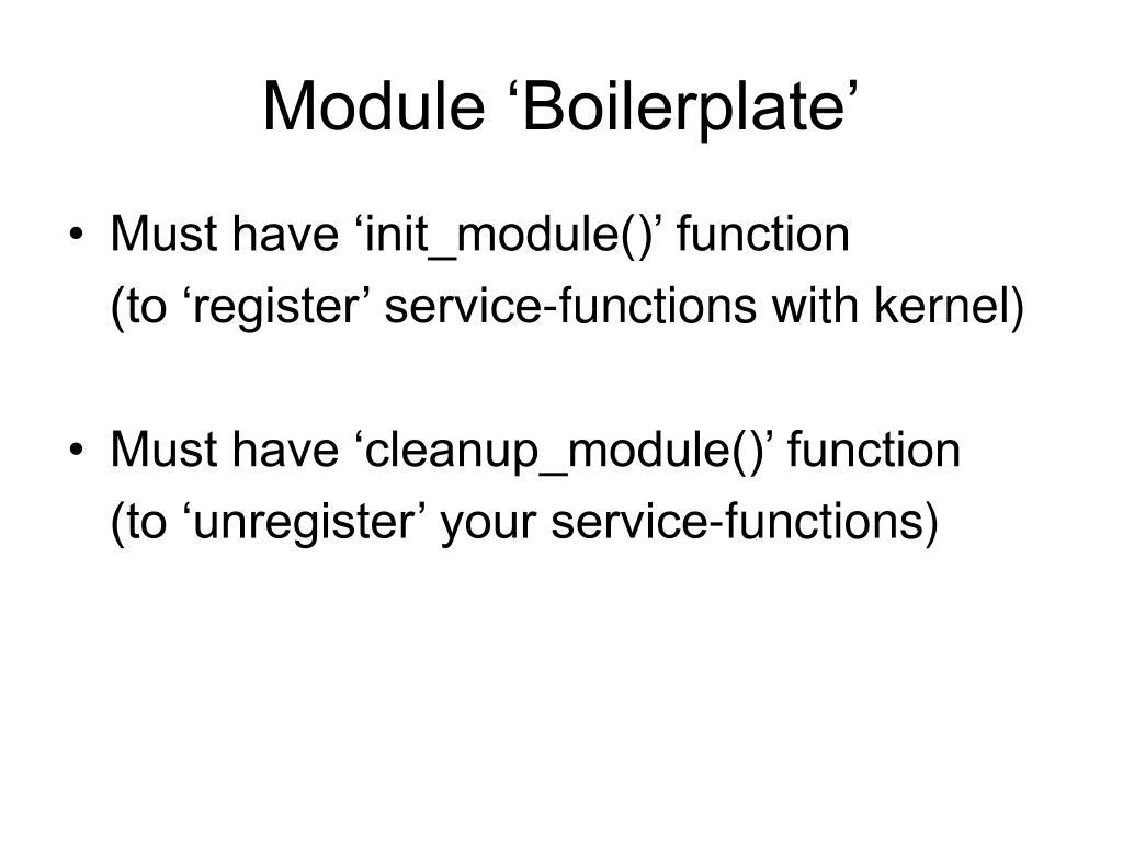 Module 'Boilerplate'