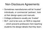 non disclosure agreements