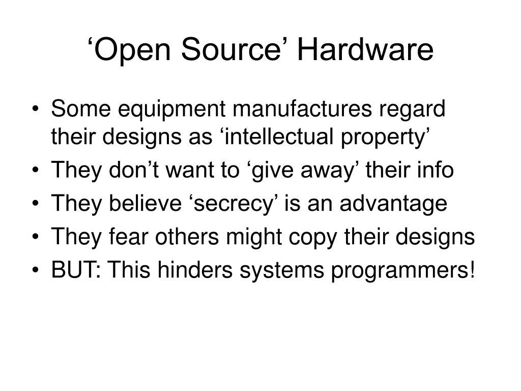 'Open Source' Hardware