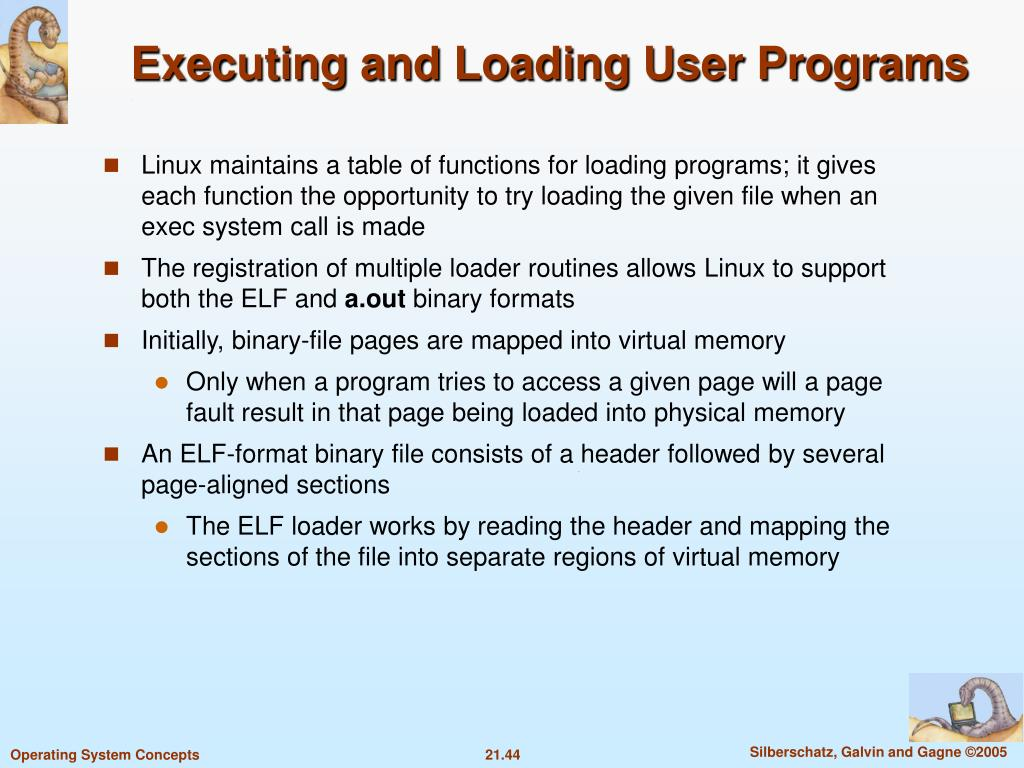 Executing and Loading User Programs