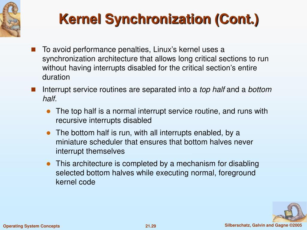 Kernel Synchronization (Cont.)