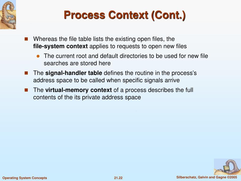 Process Context (Cont.)