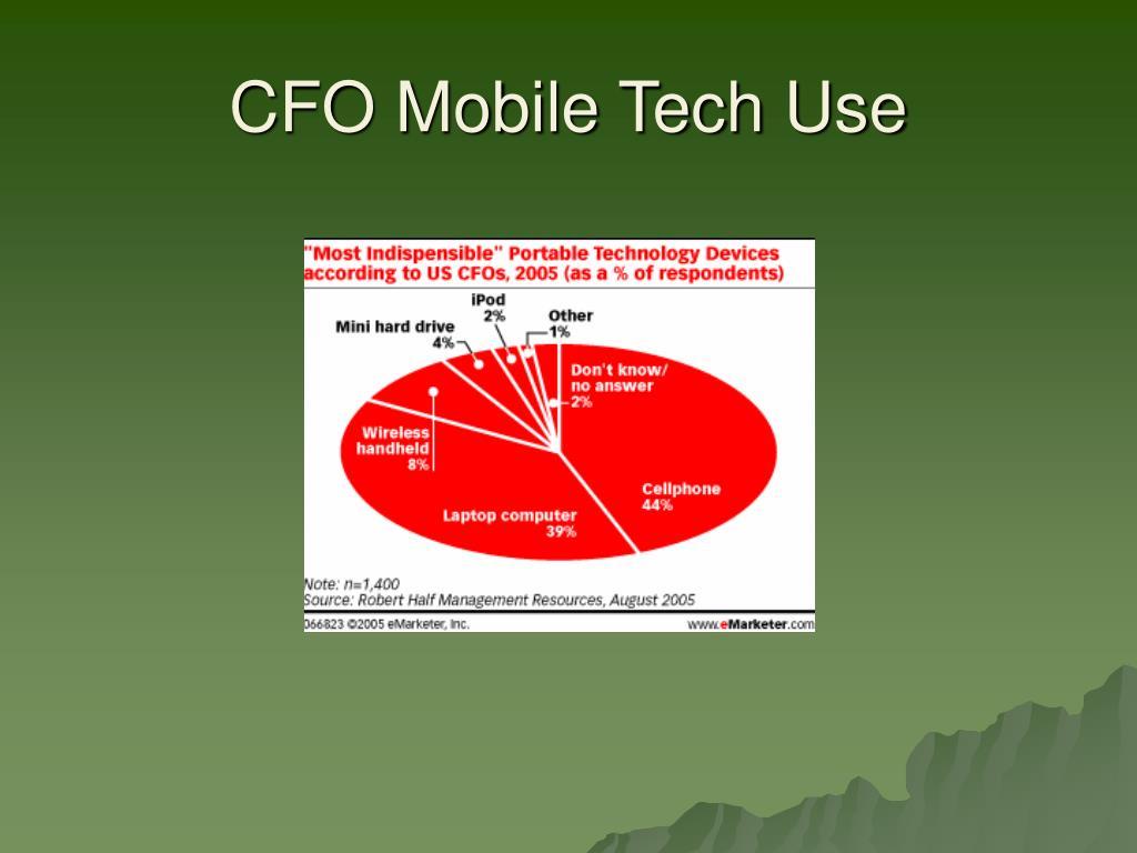 CFO Mobile Tech Use