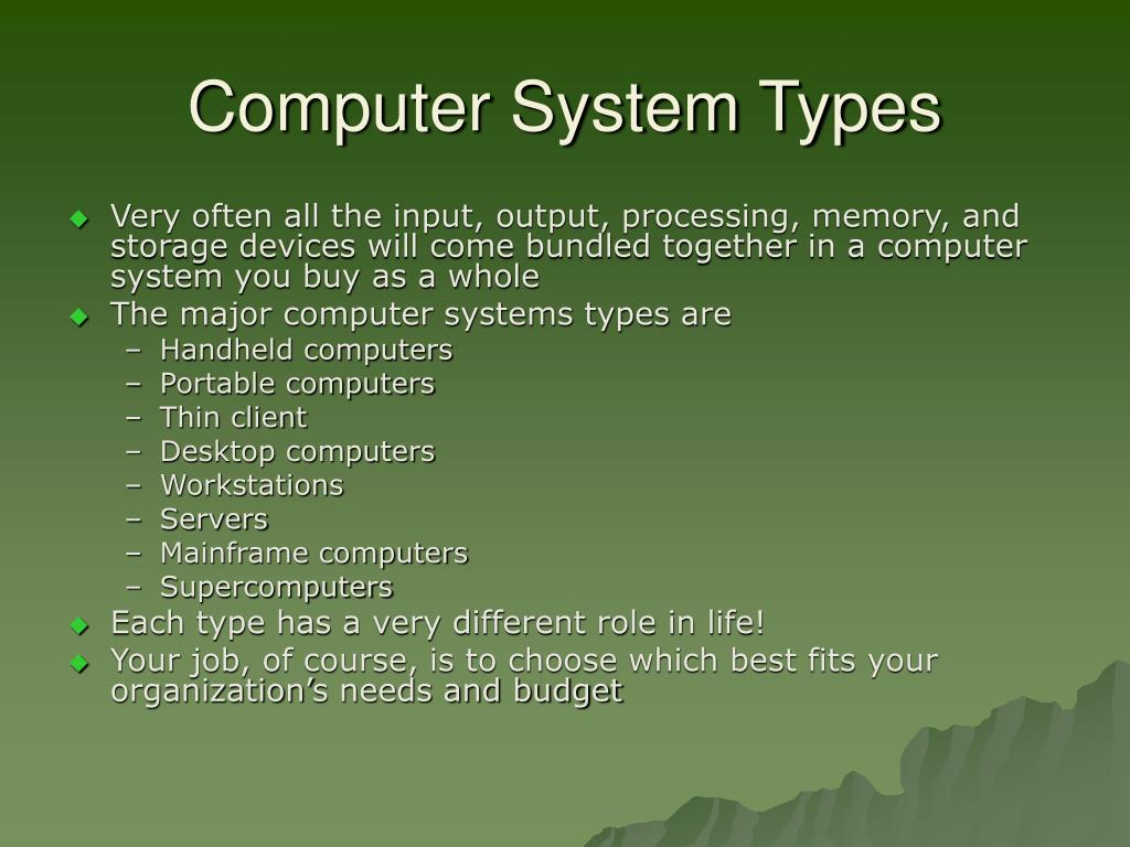 Computer System Types