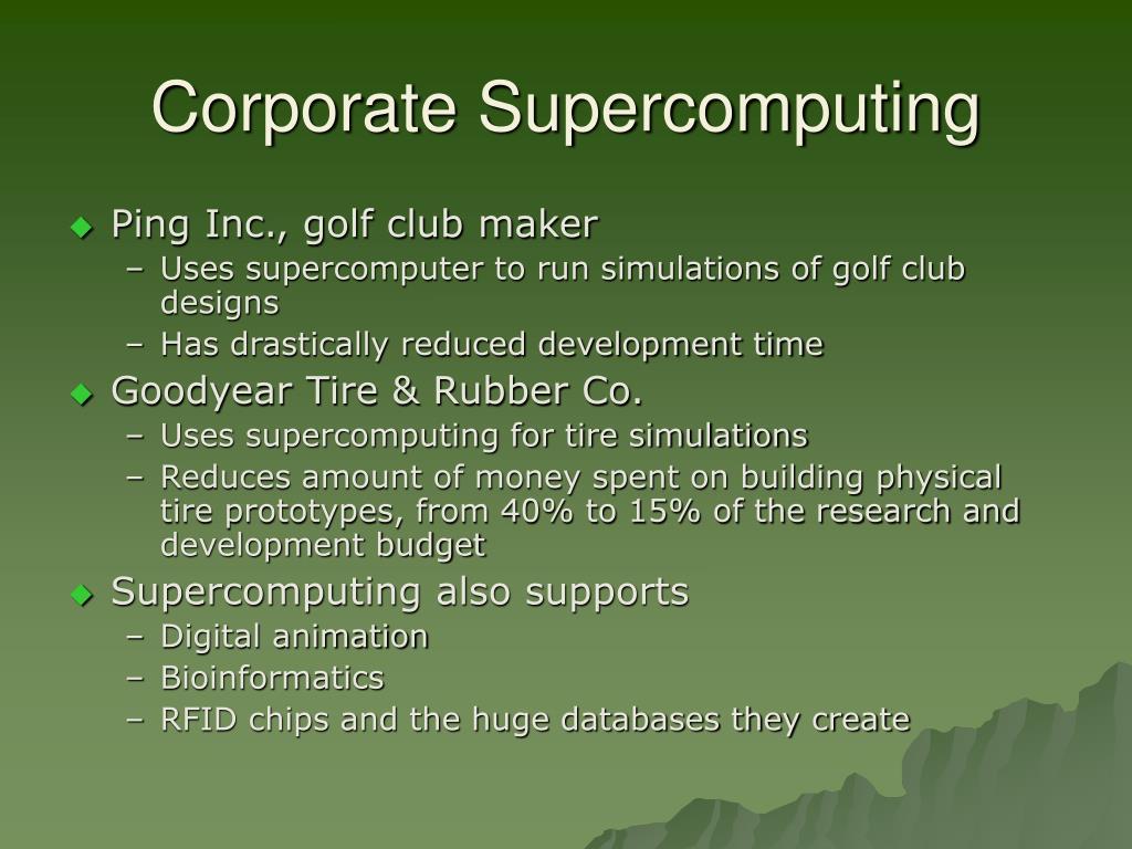 Corporate Supercomputing