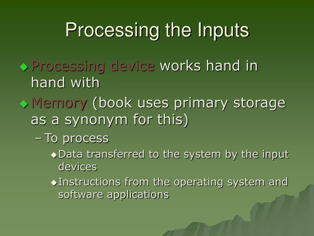Processing the Inputs