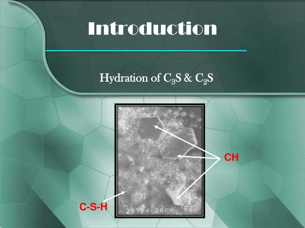 Hydration of C
