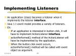 implementing listeners