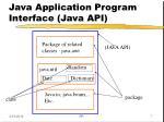 java application program interface java api