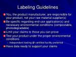 labeling guidelines