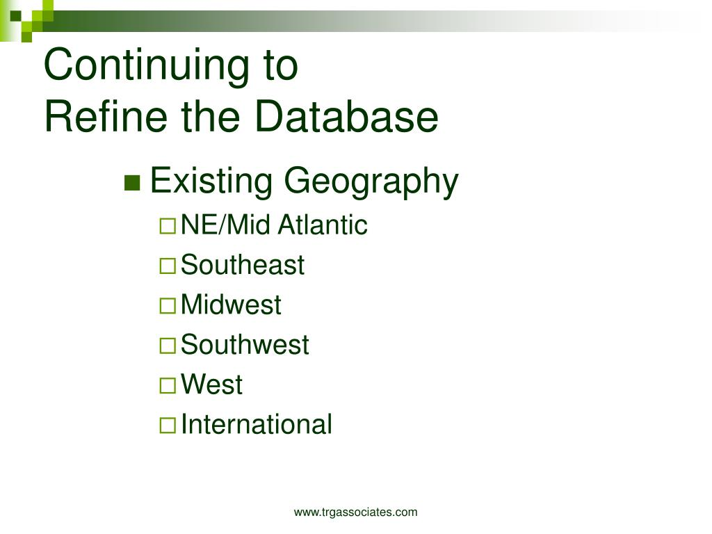 Existing Geography