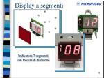 display a segmenti