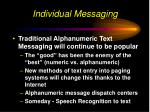 individual messaging